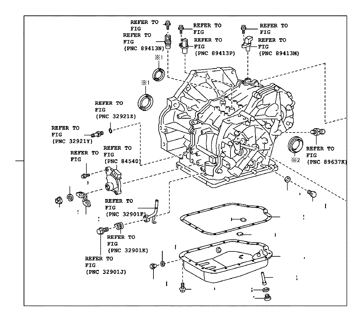 Toyota C Hr Transaxle Assembly Continuously Variable Transmission Driveline