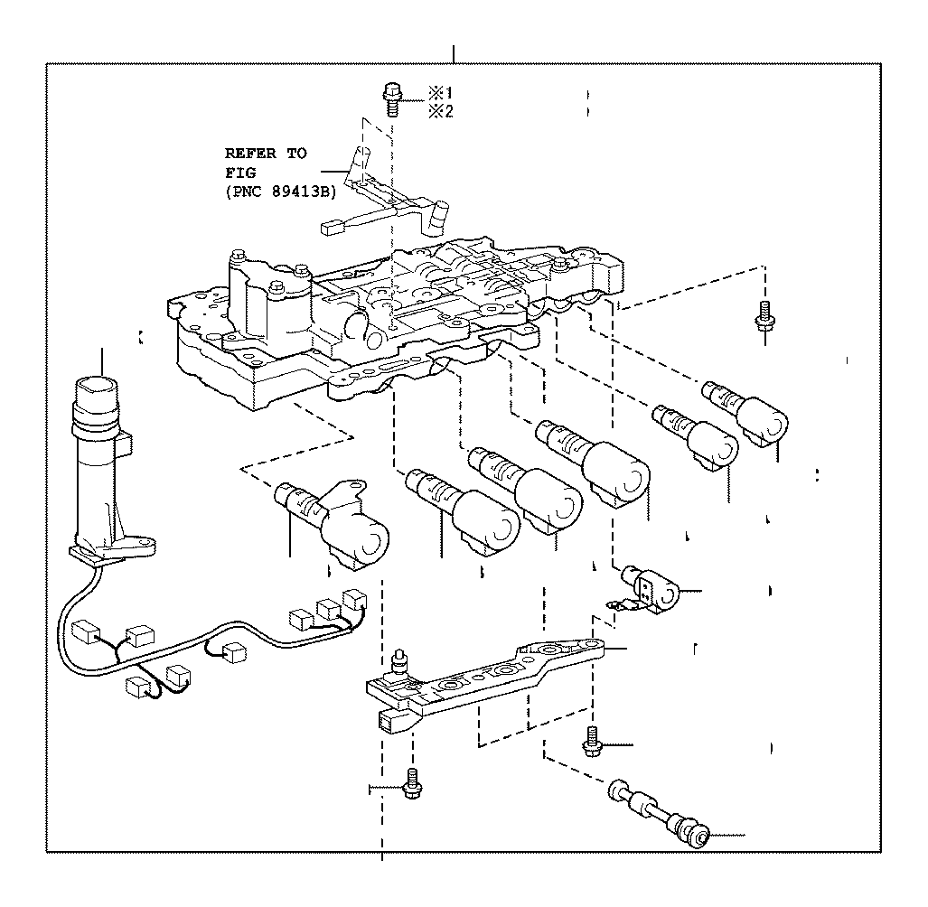 Toyota Sienna Automatic Transmission Control Solenoid