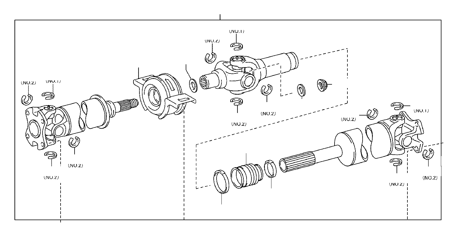 Toyota Tundra Drive Shaft Center Support Bearing Larger
