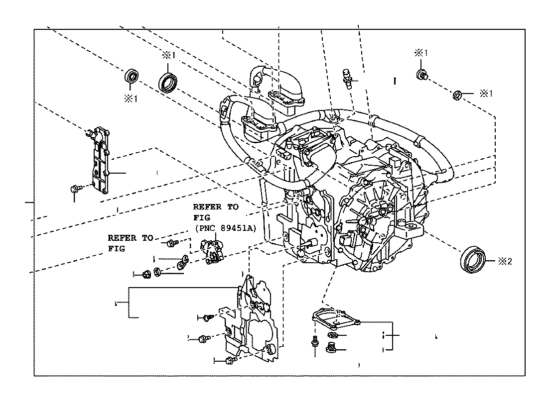 Toyota Camry Transaxle Assembly Hybrid Vehicle