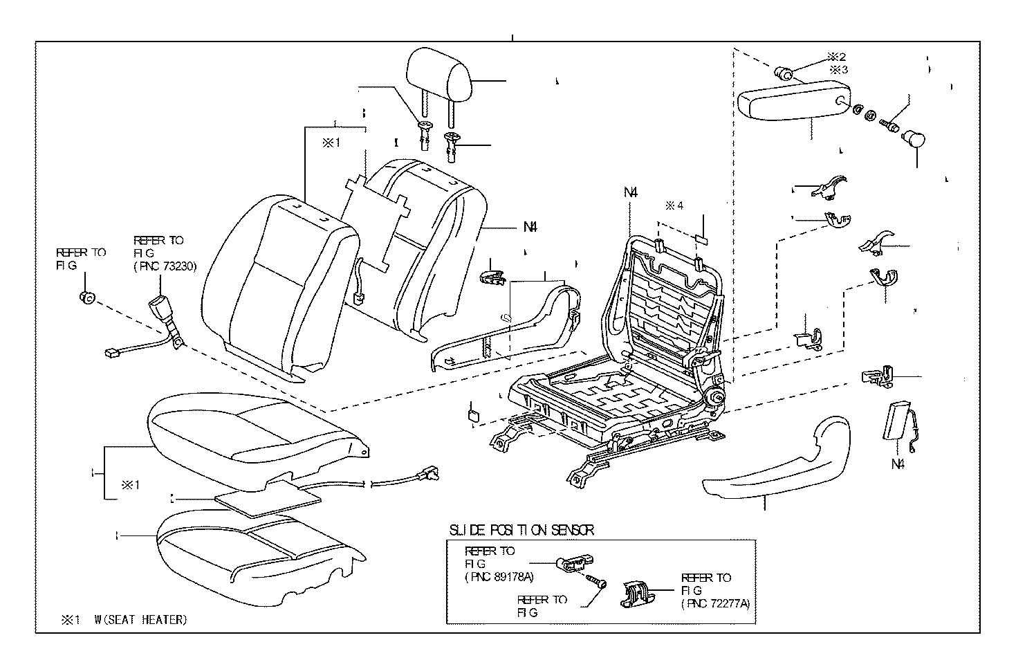 Toyota Tundra Cover Reclining Adjuster Inside Right Md