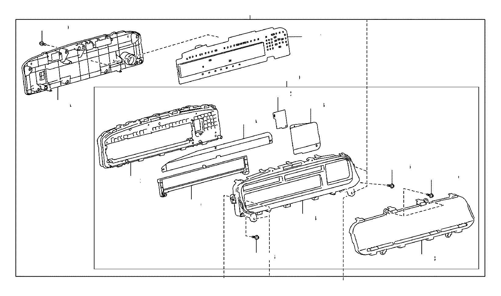 Toyota Prius V Instrument Panel Circuit Board Plate