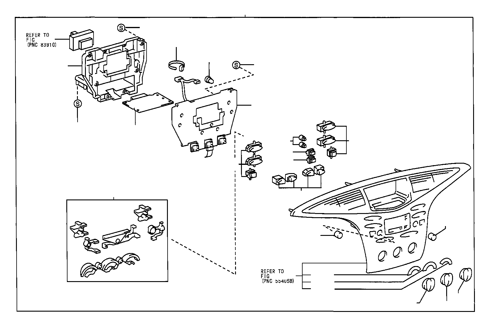 Toyota Prius Instrument Panel Circuit Board Circuit
