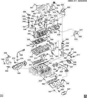 NEW Genuine GM 24506057 Intake to Exhaust Manifold Gasket