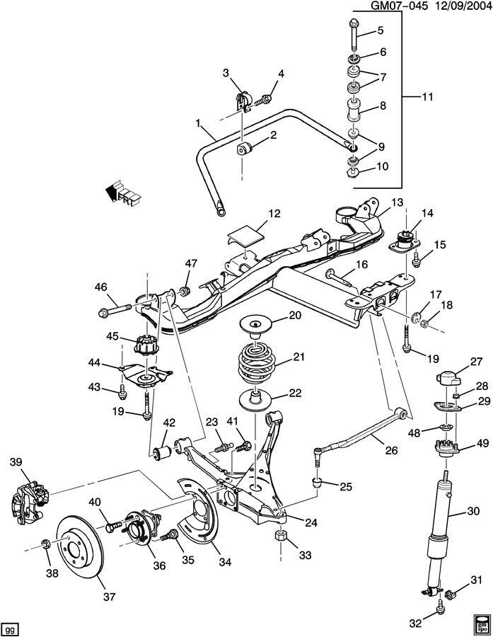 2002 Hyundai Santa Fe Rear Suspension
