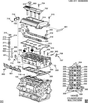 ENGINE ASM22L L4 PART 2 CYLINDER HEAD & RELATED PARTS