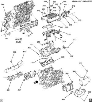 ENGINE ASM35L V6 PART 5 MANIFOLDS & FUEL RELATED PARTS