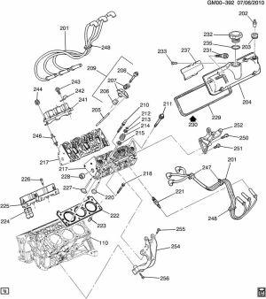 2003 Buick Rendezvous ENGINE ASM34L V6 PART 2 CYLINDER