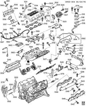 ENGINE ASM31L V6 PART 5 MANIFOLDS & FUEL RELATED PARTS