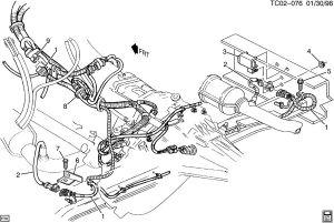 1999 Chevrolet Tahoe WIRING HARNESSOXYGEN SENSORS & HEAT SHIELDS