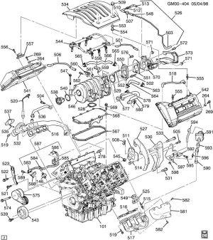 ENGINE ASM35L V6 PART 5 MANIFOLDS & FUEL RELATED PARTS