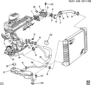 CHEVY S10 2 2L ENGINE DIAGRAM  Auto Electrical Wiring Diagram
