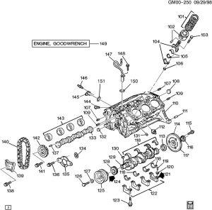 ENGINE ASM31L V6 PART 1 CYLINDER BLOCK & INTERNAL PARTS