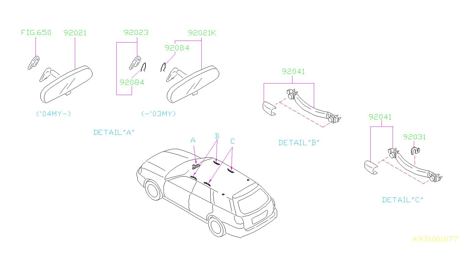 Subaru Baja Interior