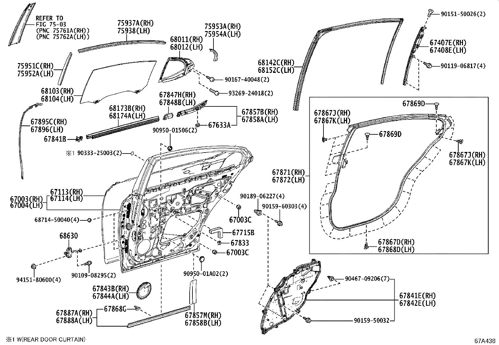 Lexus Es 350 Door Interior Trim Panel Left Rear