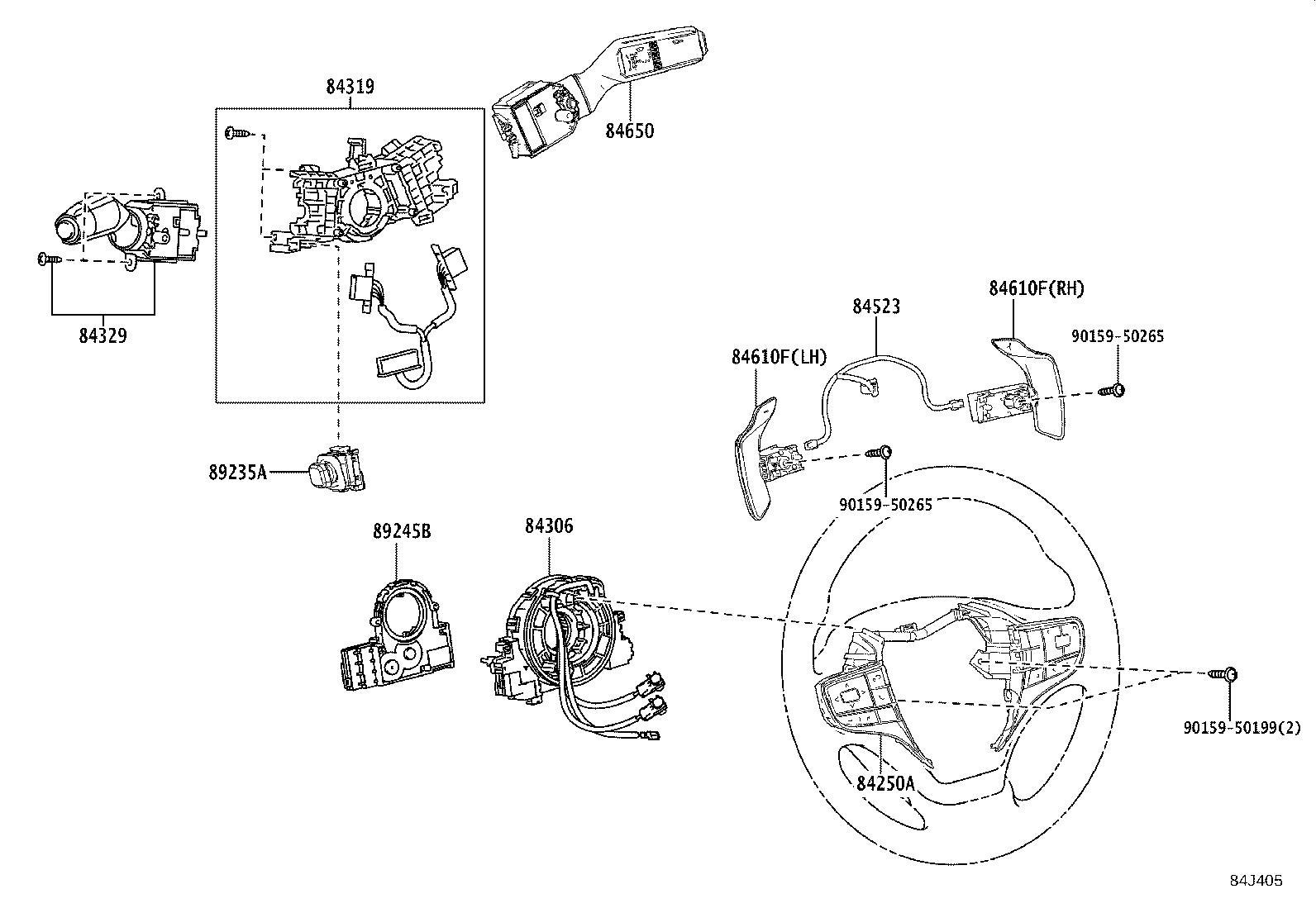 Lexus Ux 200 Blind Spot Detection System Warning Sensor