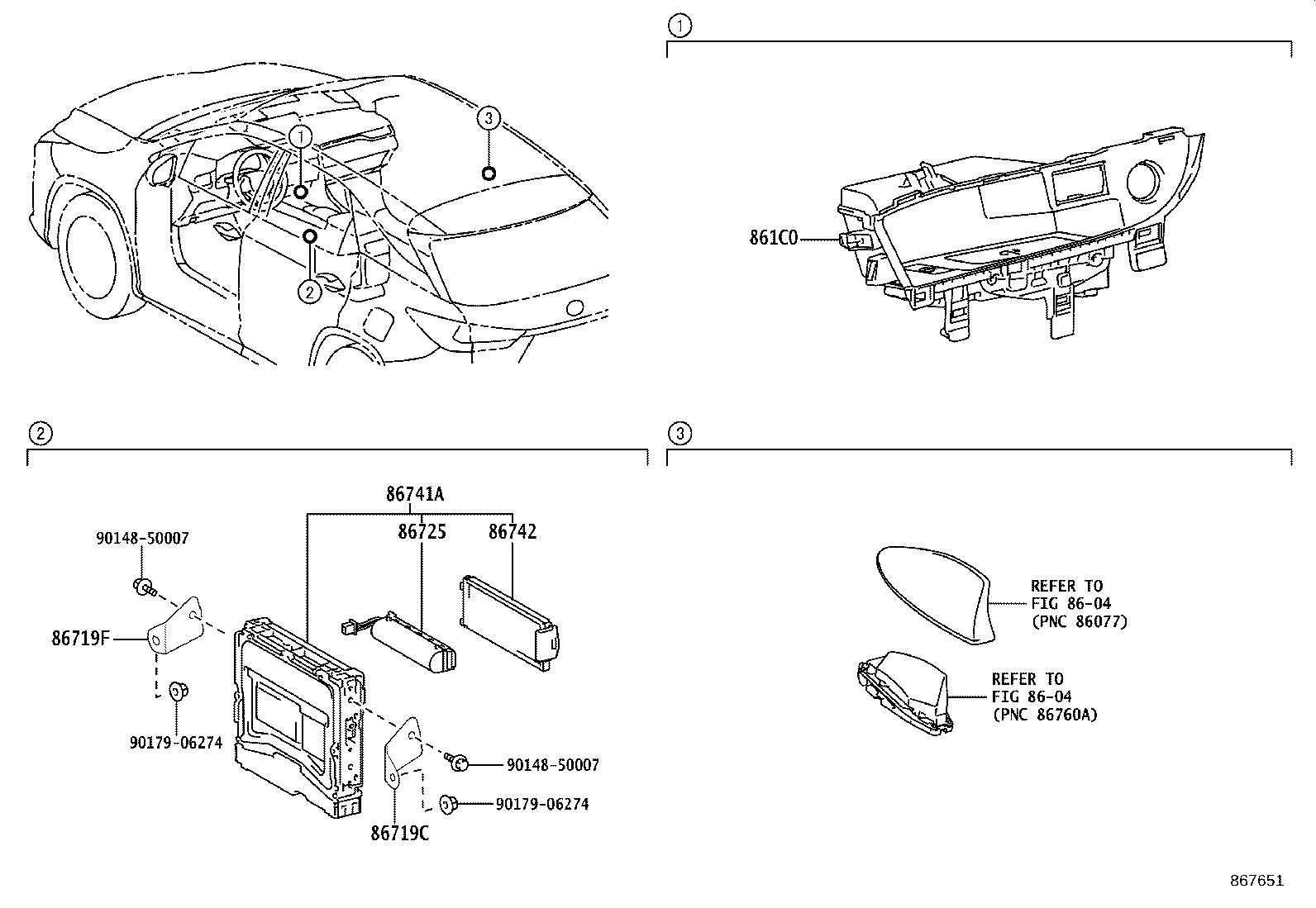 Lexus Rx 350 Bracket Telephone No 4 Usa Spec