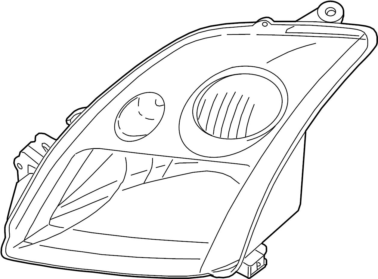 Nissan Sentra Headlight Left