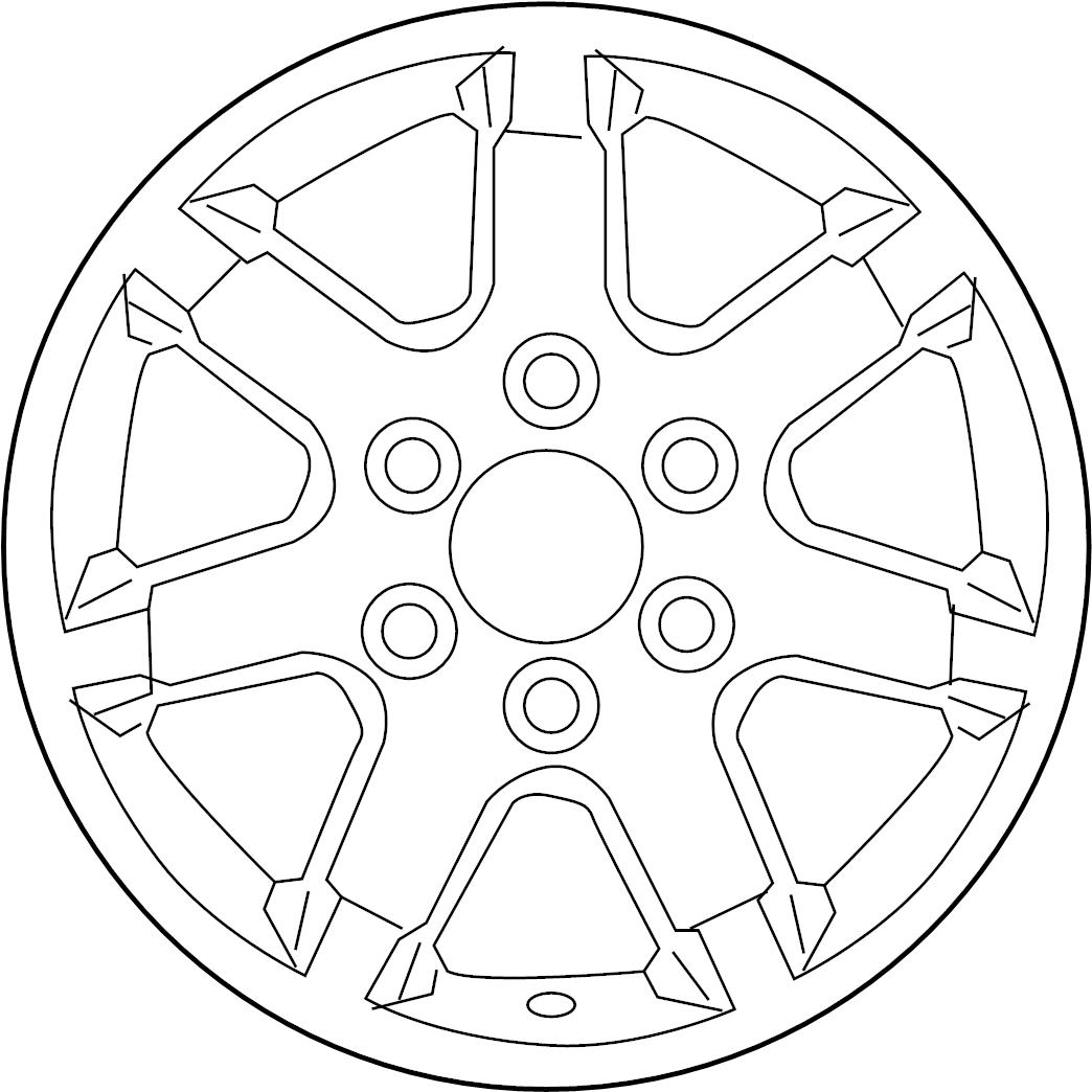 Nissan Titan Wheel Chrome Alloy Spare