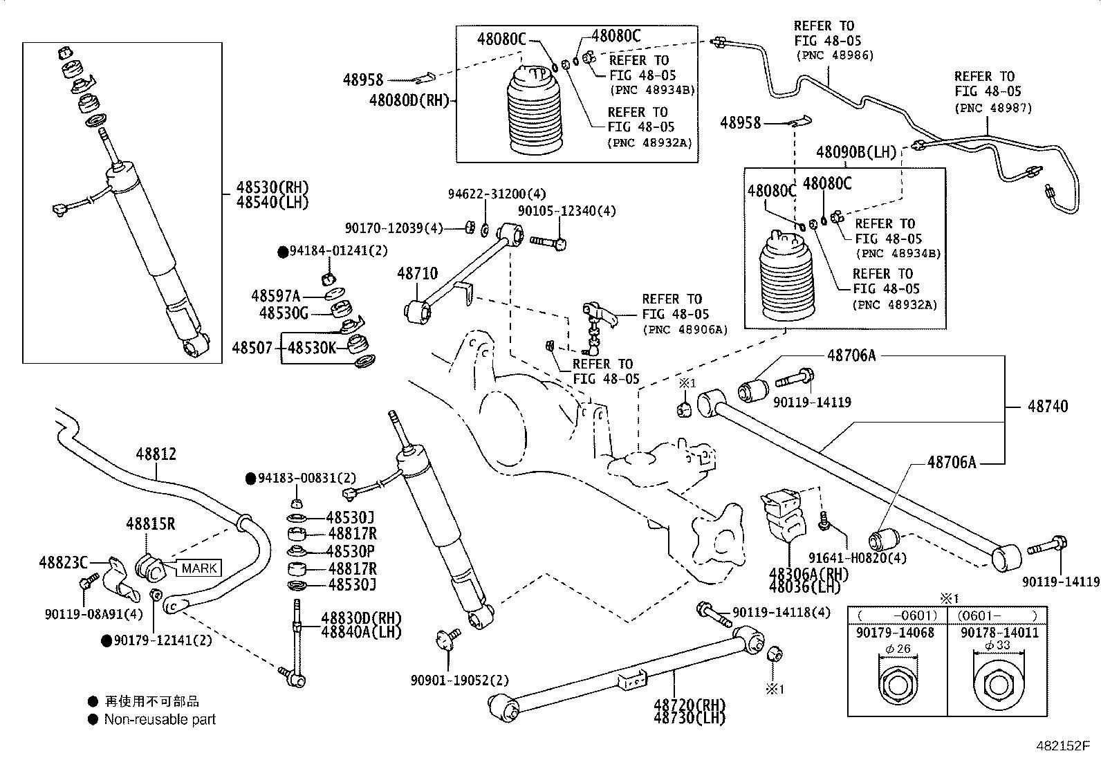 Lexus Gx 470 Bar Sub Assembly Rear Stabilizer Suspension