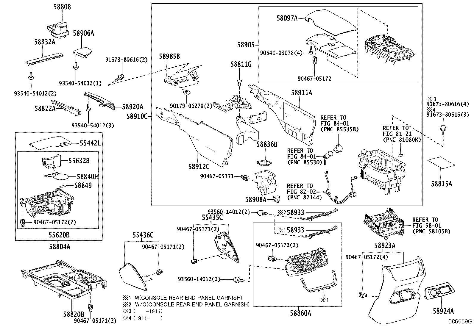 Lexus Es 350 Console Armrest