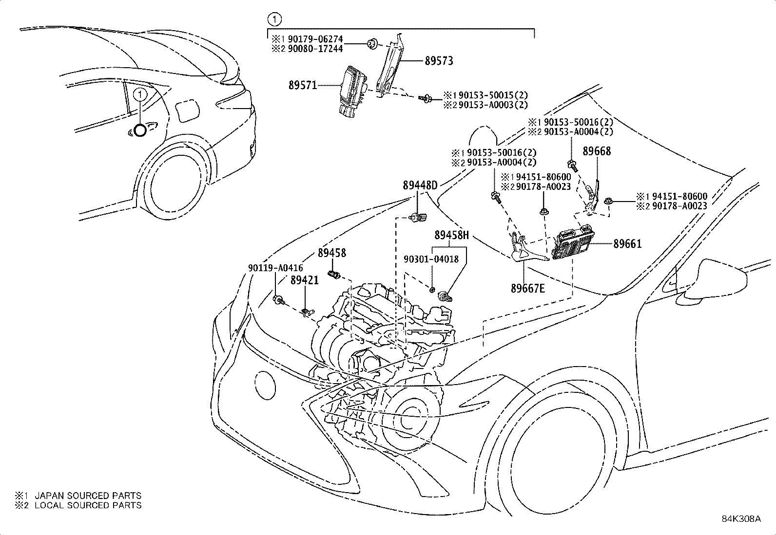 Lexus Es 350 Engine Control Module Bracket