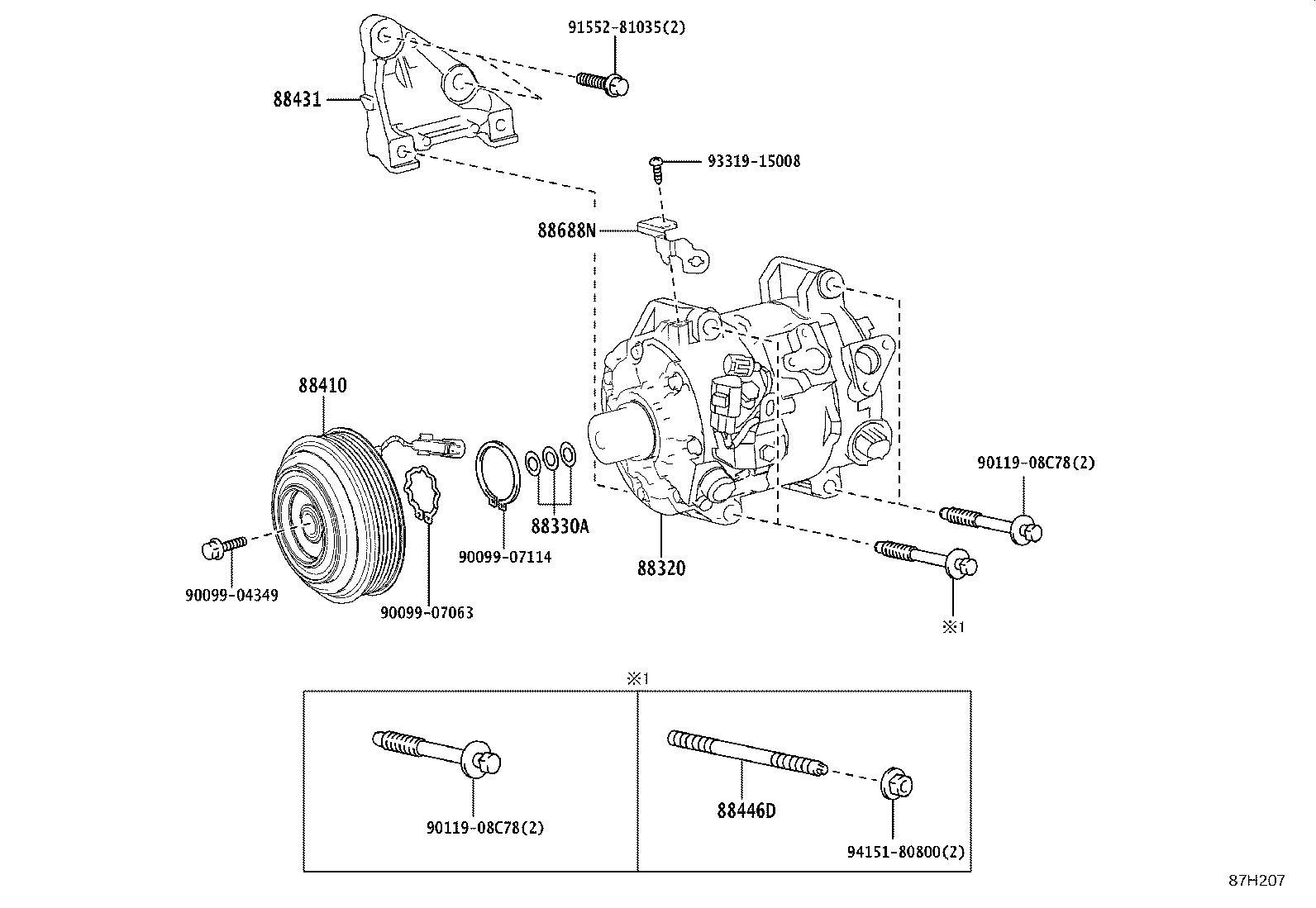 Lexus Es 300h A C Compressor