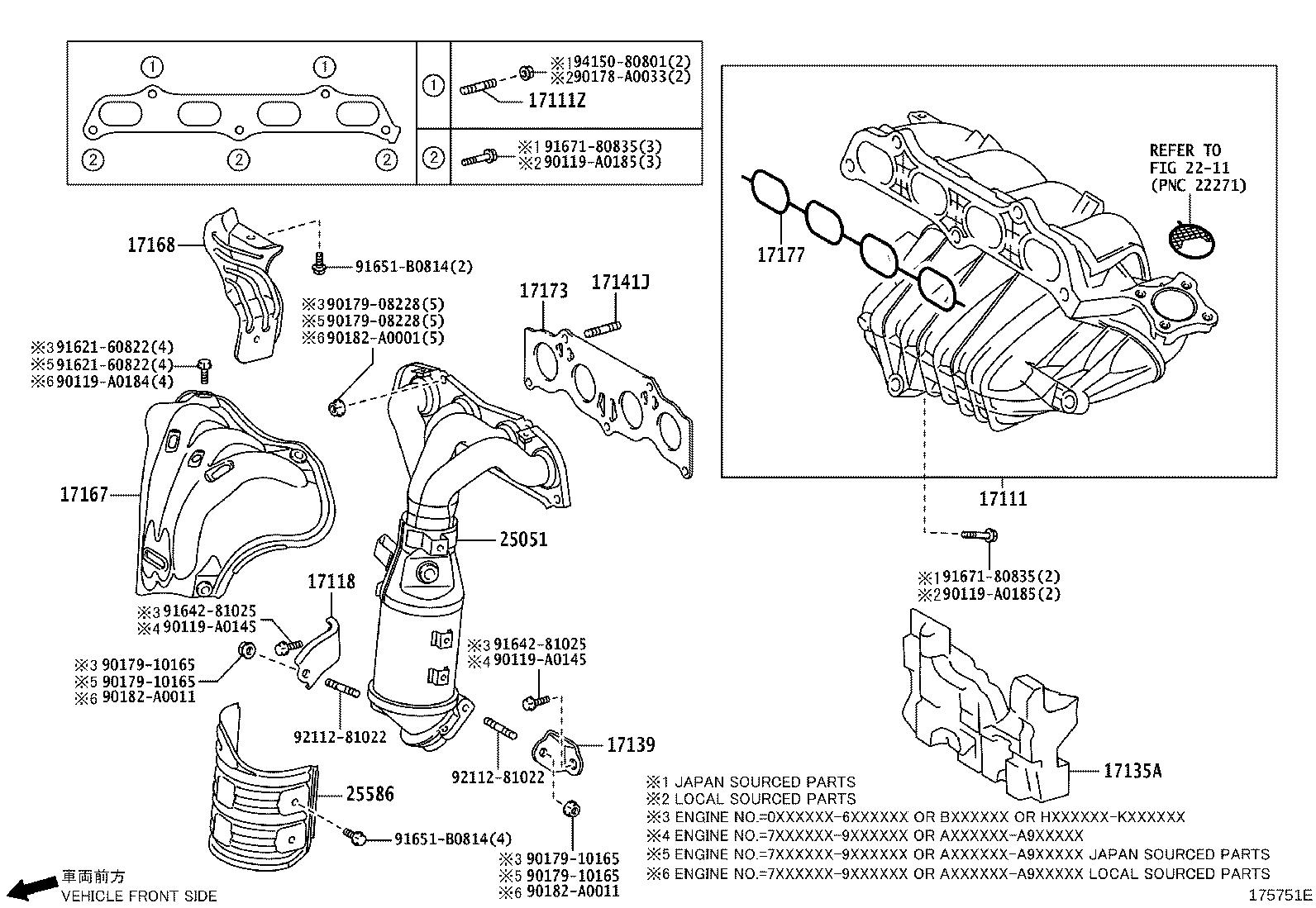 Toyota Corolla Stay Manifold Exhaust Engine