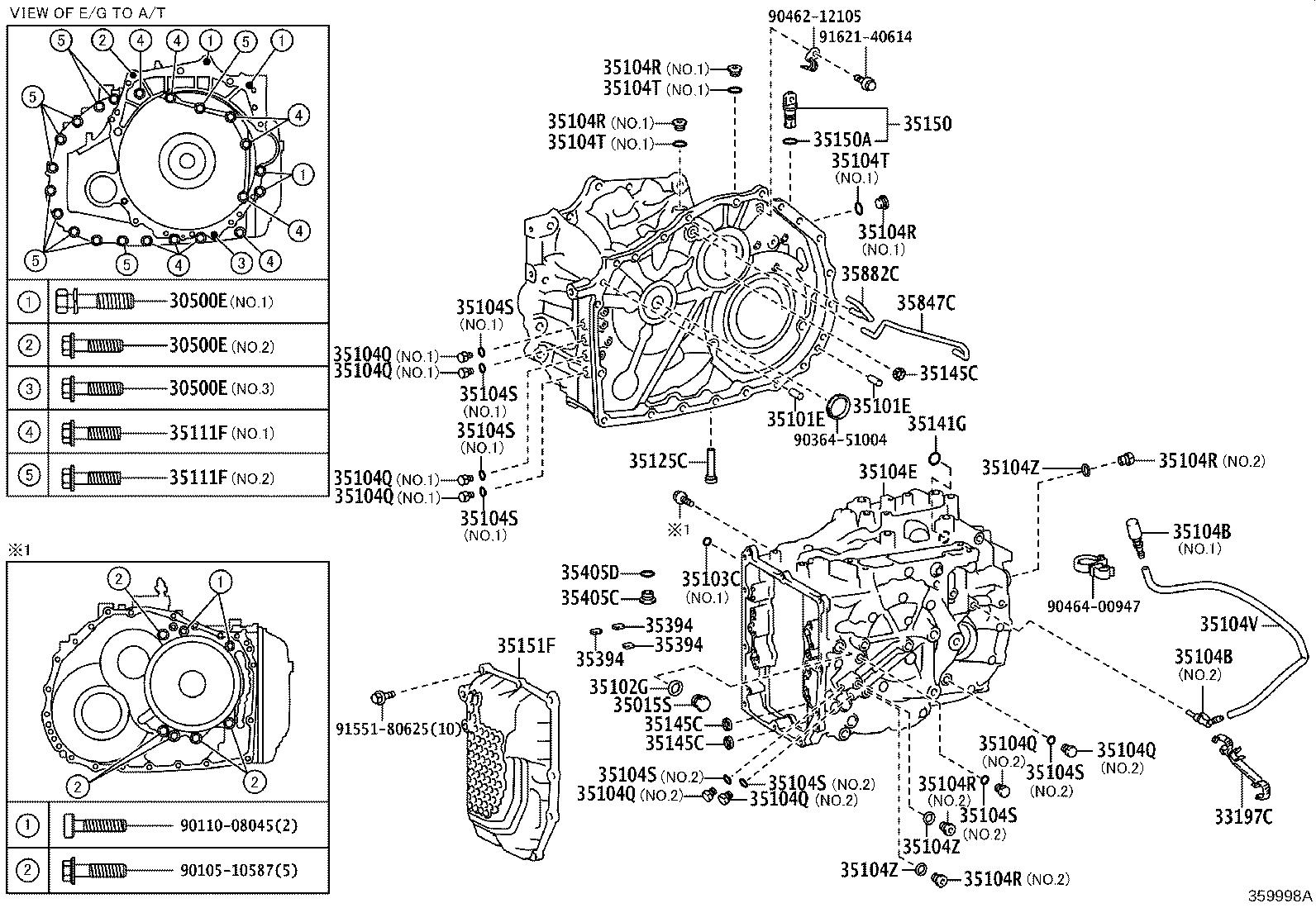 Toyota Camry Clamp Transmission Breather Driveline