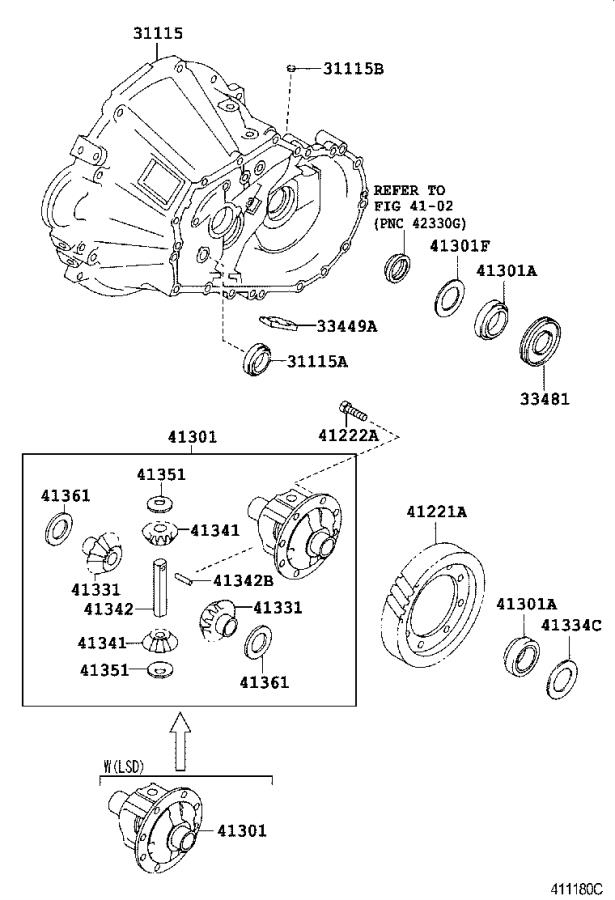 Toyota Mr2 Manual Transmission Differential Bearing Front