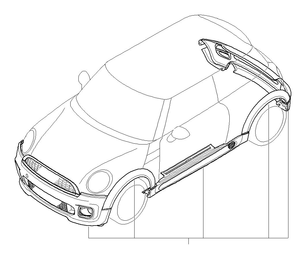 Mini Cooper S Aerodynamic Package Primed Works