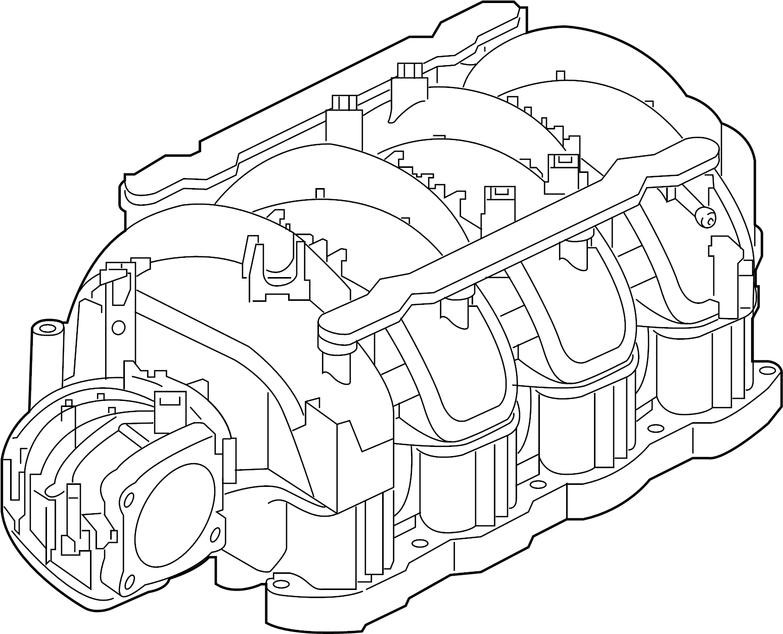 Infiniti Qx56 Engine Intake Manifold Exhaust Cover