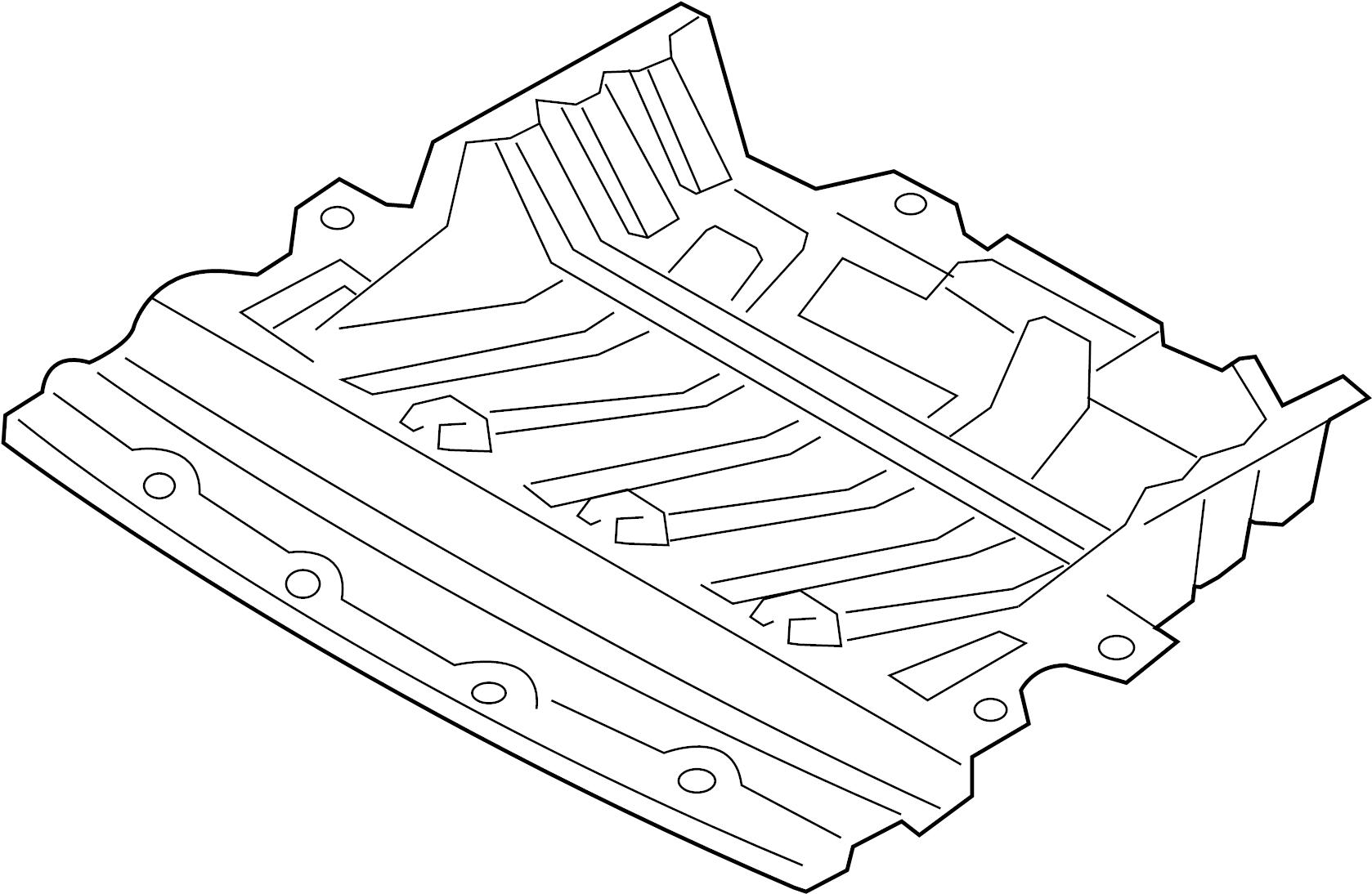 Infiniti G35 Radiator Support Splash Shield Lower