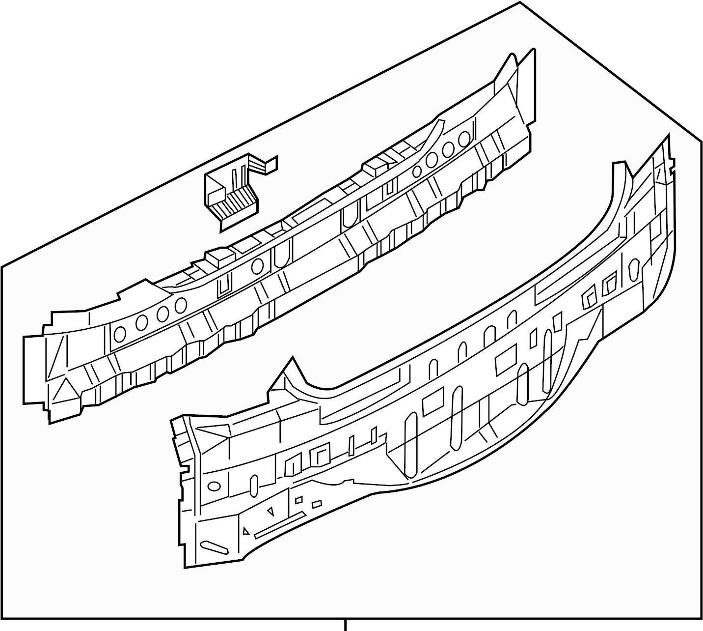 Infiniti G35 Rear Body Panel Rear Upper Trim Interior