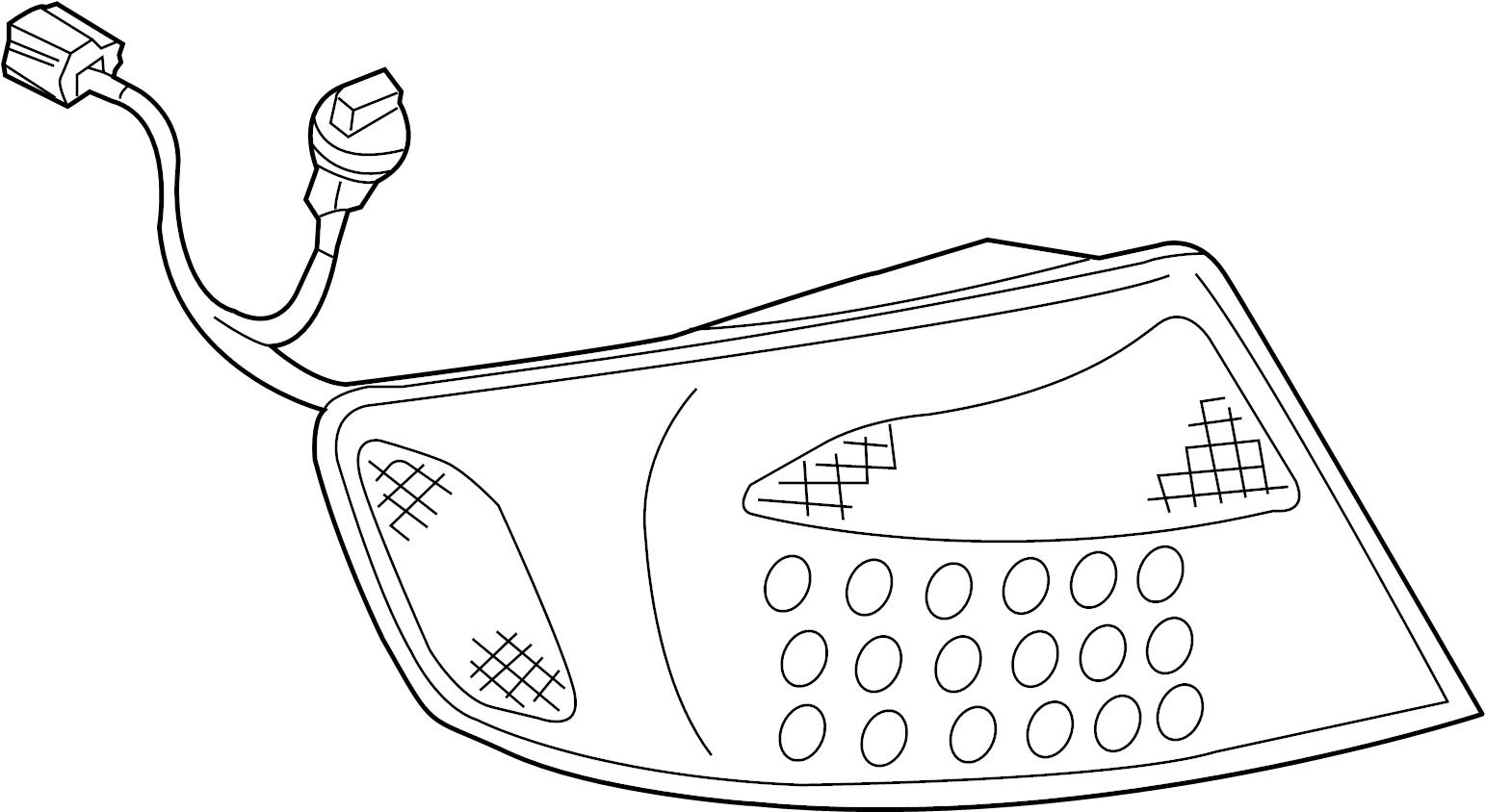 Infiniti G35 Tail Light Right Rear