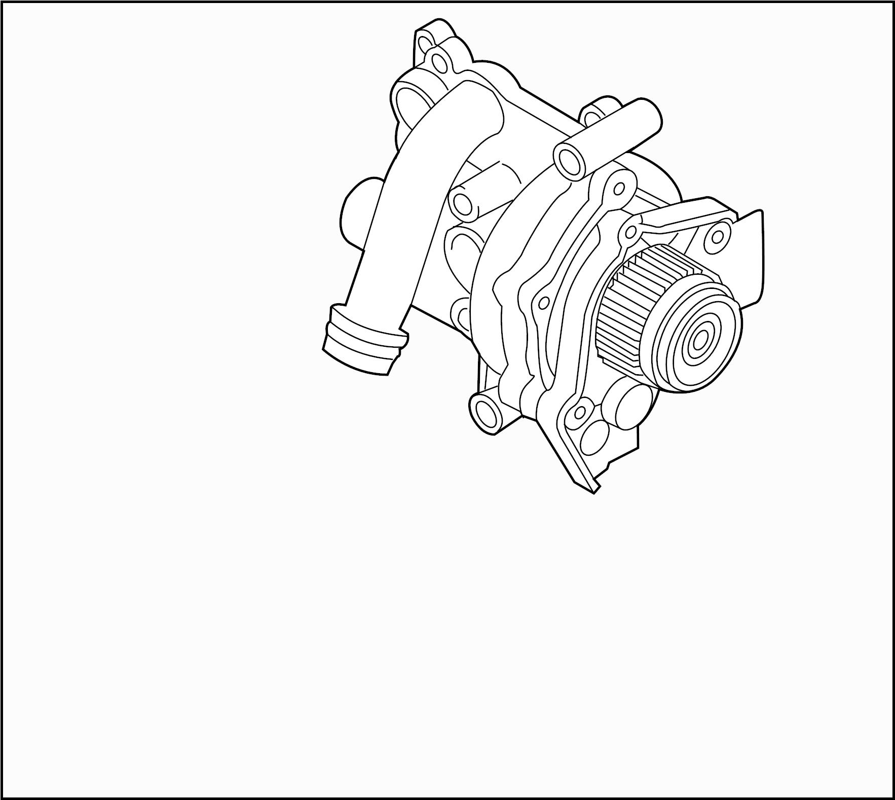 Volkswagen Passat Engine Water Pump Assembly