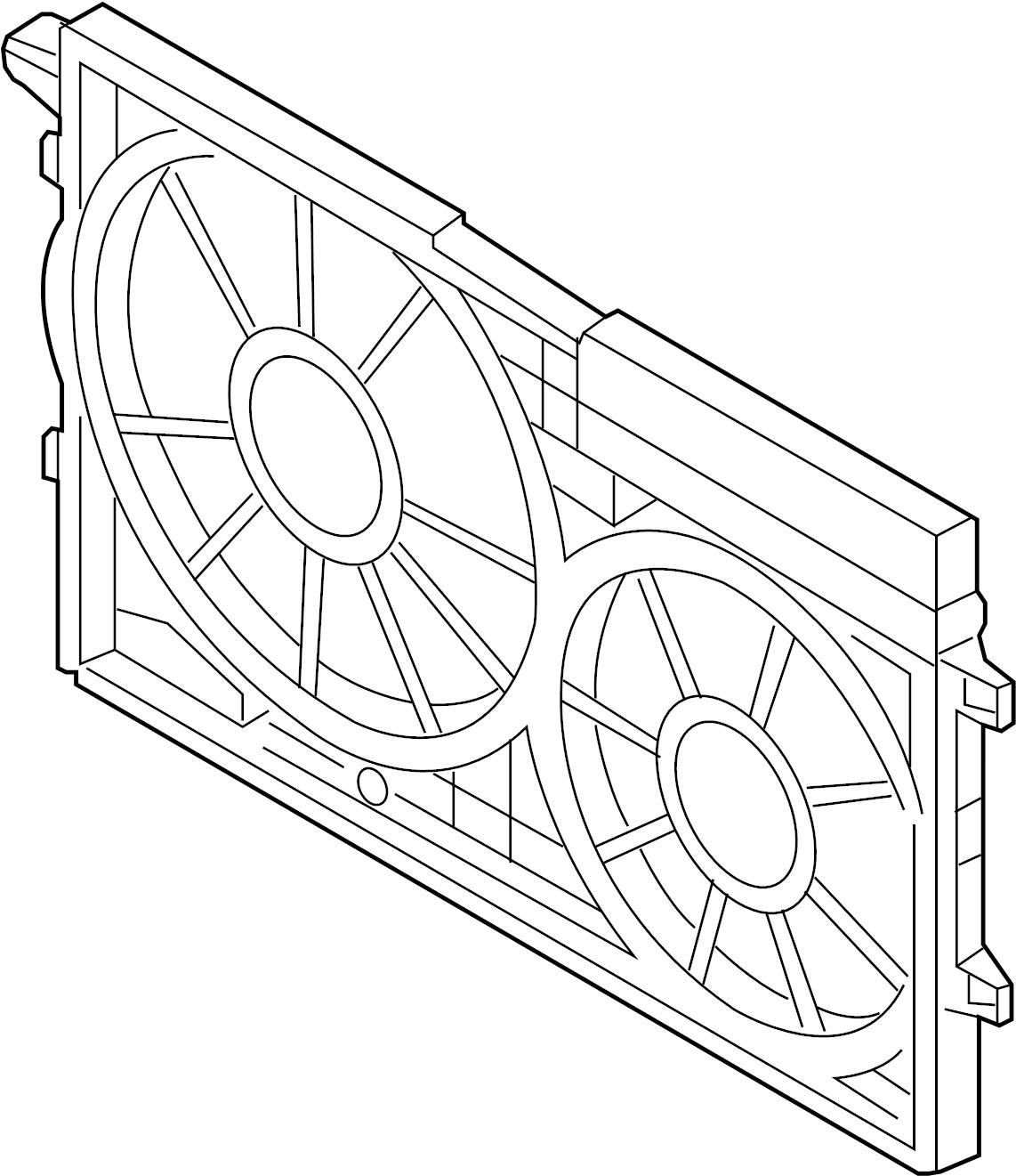 Volkswagen Jetta Gli Engine Cooling Fan Shroud Liter