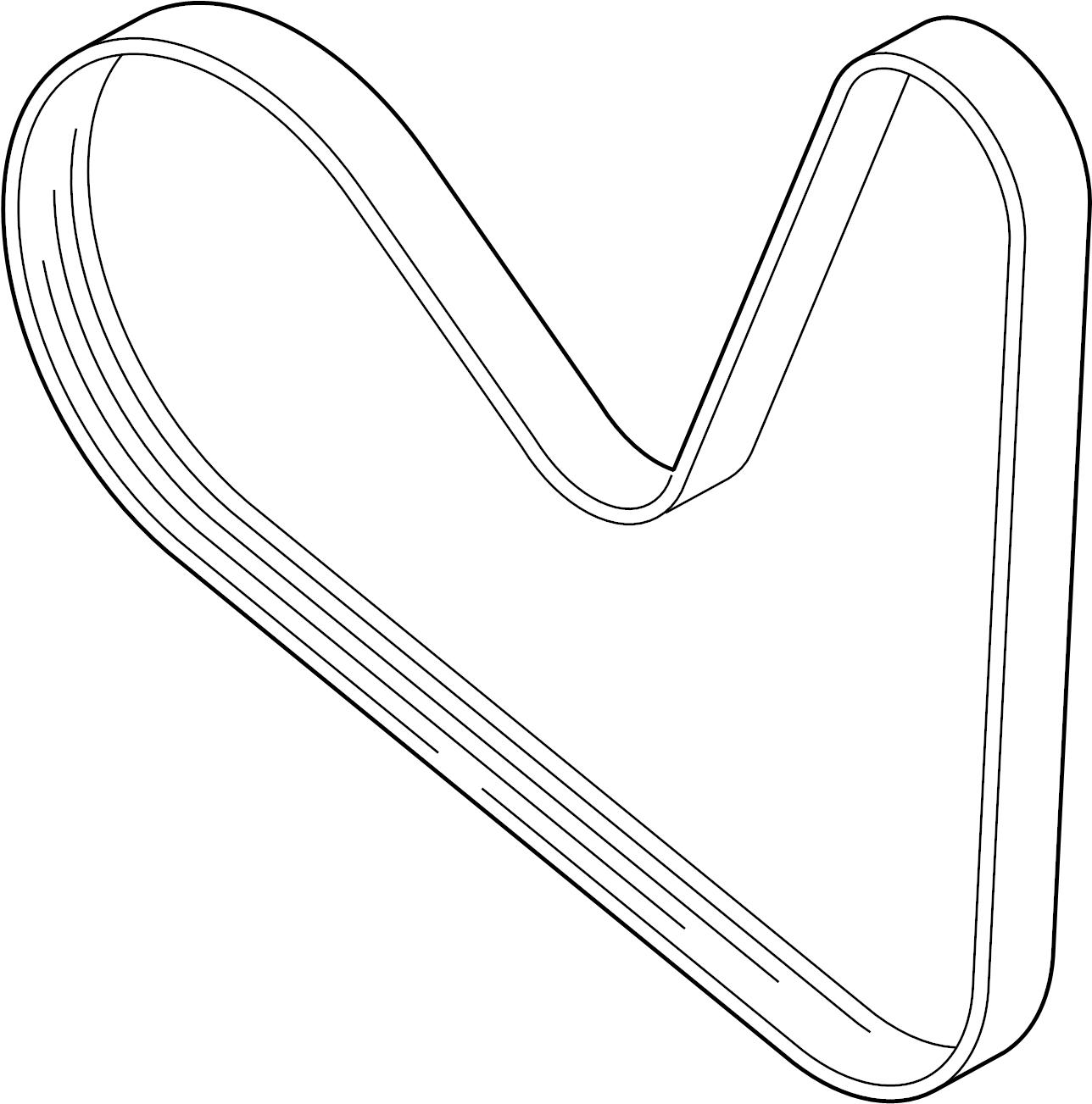 Volkswagen Beetle Ribbedbelt Serpentine Belt Liter