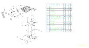 800708380  Bolt Alternator, system, bracket  Genuine Subaru Part