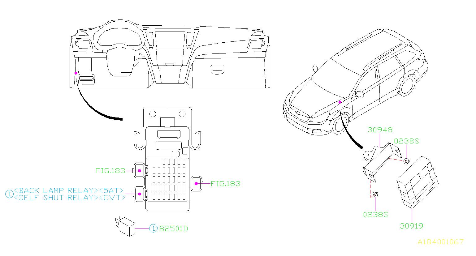 Subaru Outback Automatic Transmission Control Module