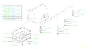 31390AA081  Oil pan pletetransmission Case, automatic, accumulator  Genuine Subaru Part