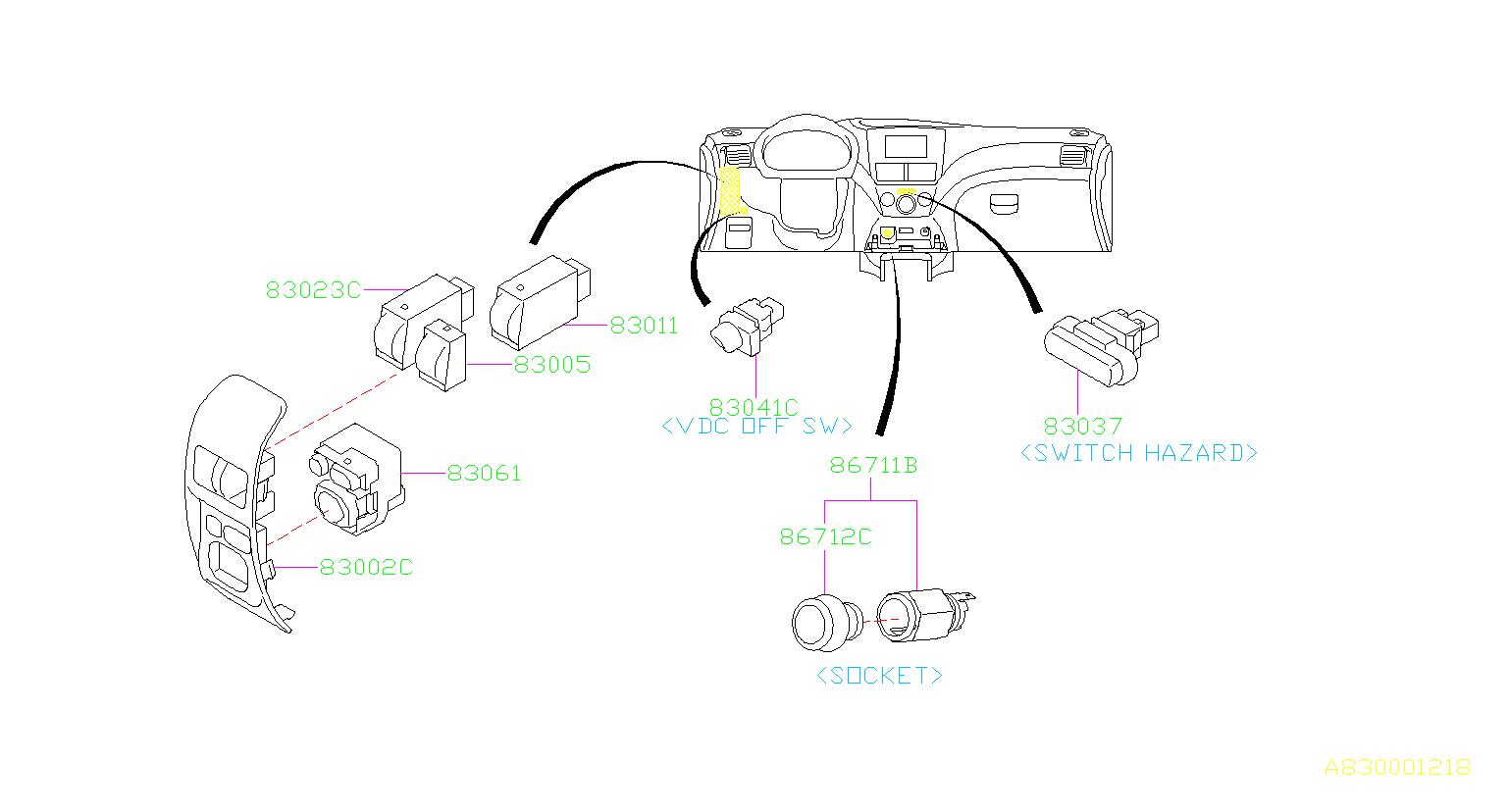 Illumination Control Switch. Panel
