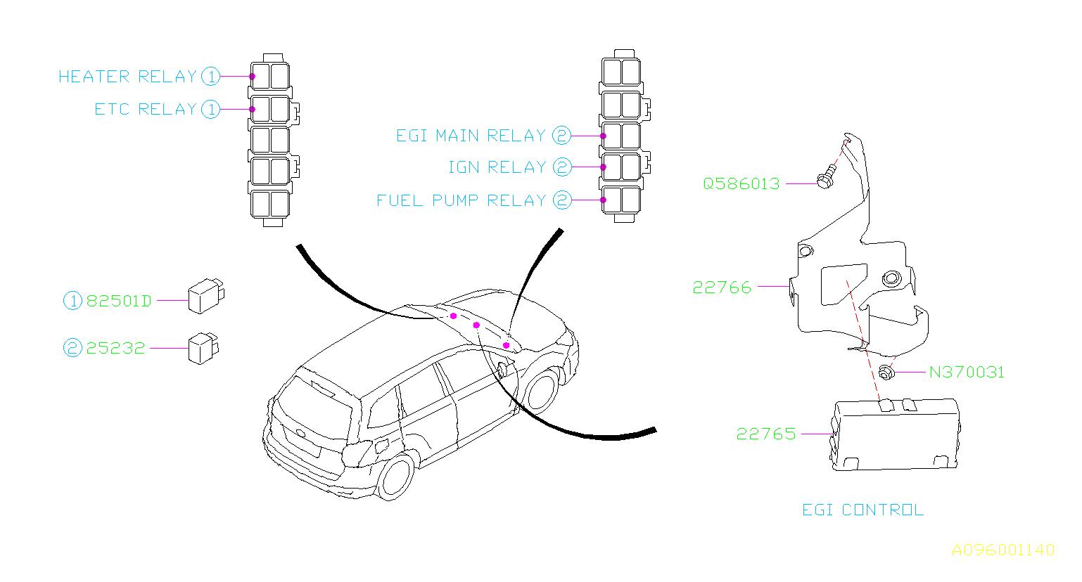 Subaru Forester Relay Electrical Body Control
