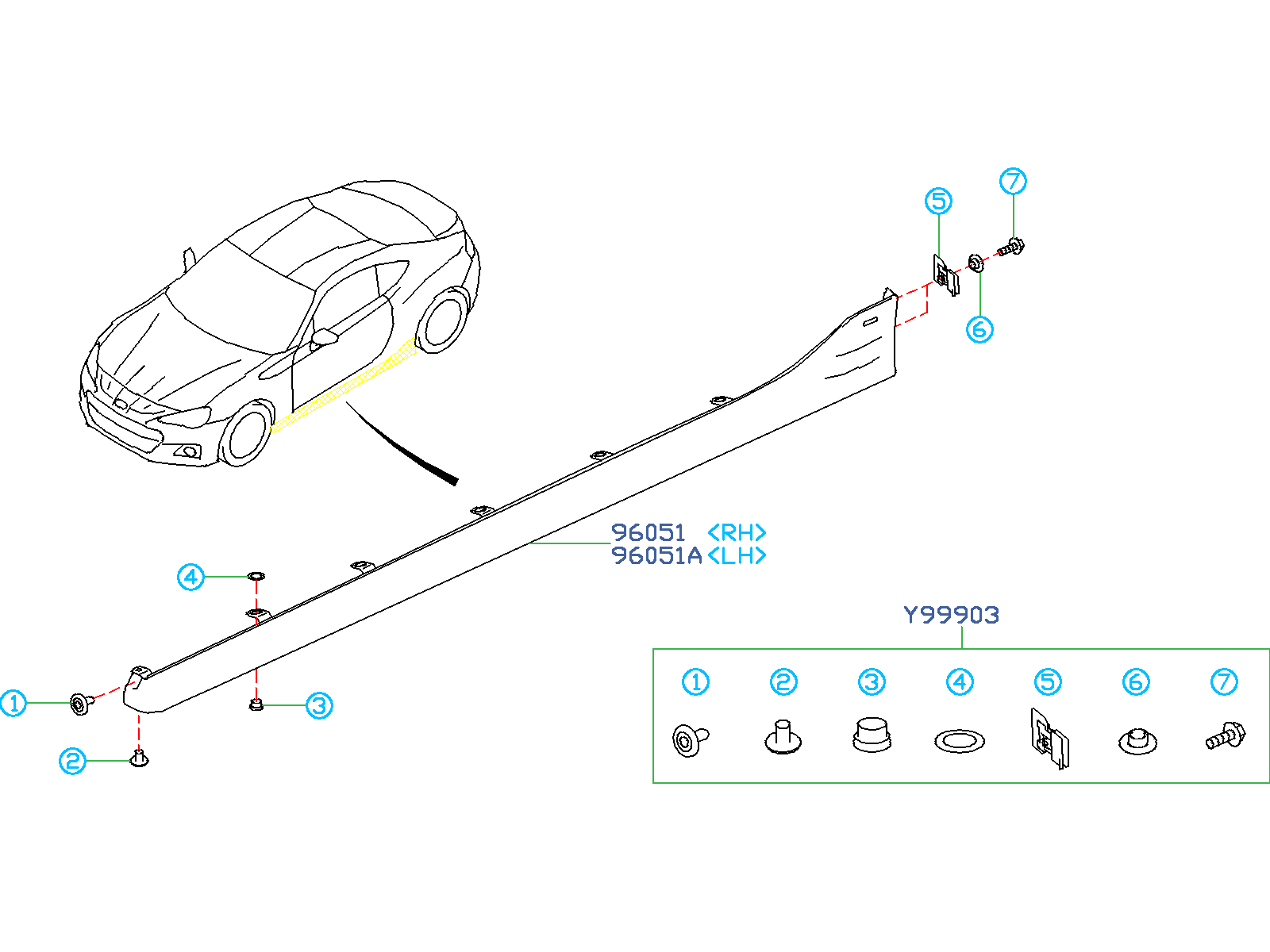 Subaru Brz Installation Kit Hardware Kit Spoiler Side