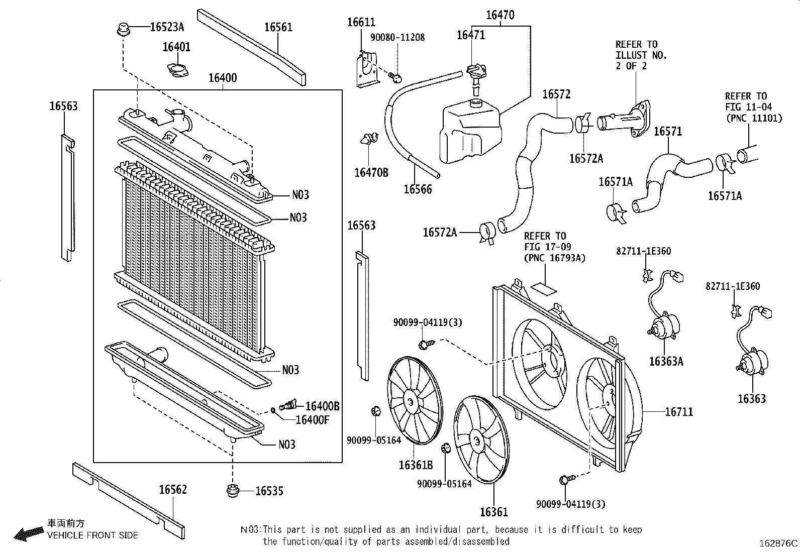 Toyota Camry Engine Coolant Hose System Cooling