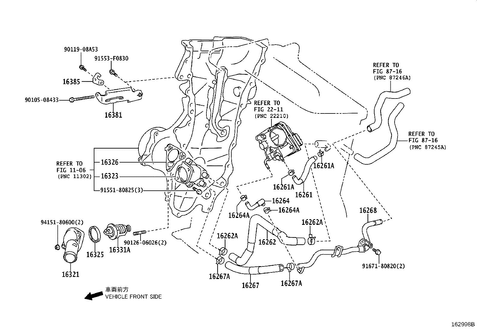Scion Xd Radiator Coolant Hose Engine Cooling System