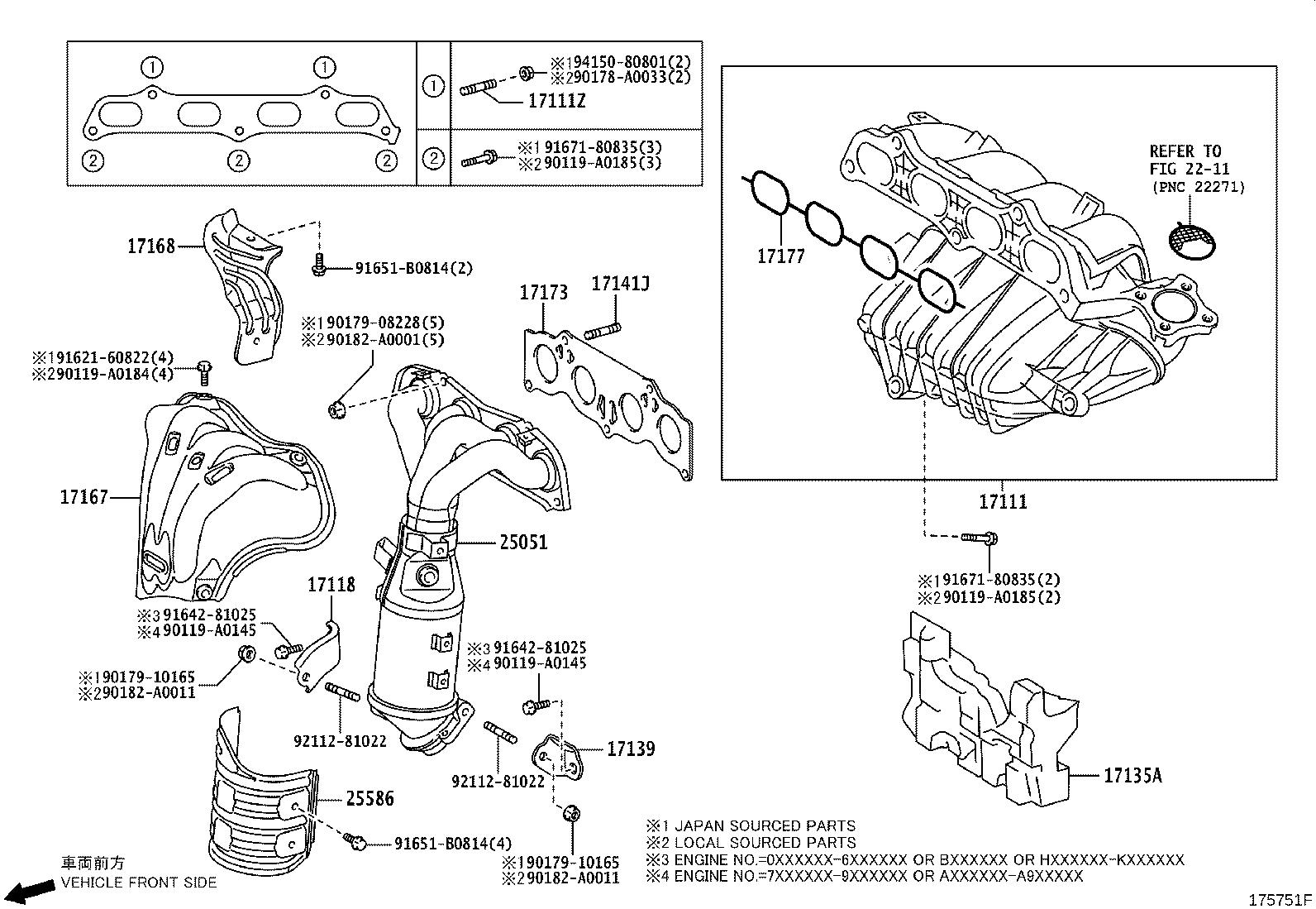 Toyota Matrix Catalytic Converter With Integrated