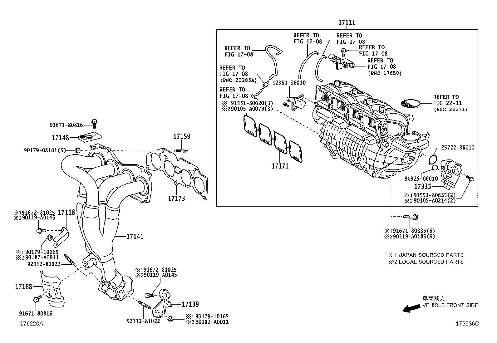 Toyota Highlander Catalytic Converter With Integrated