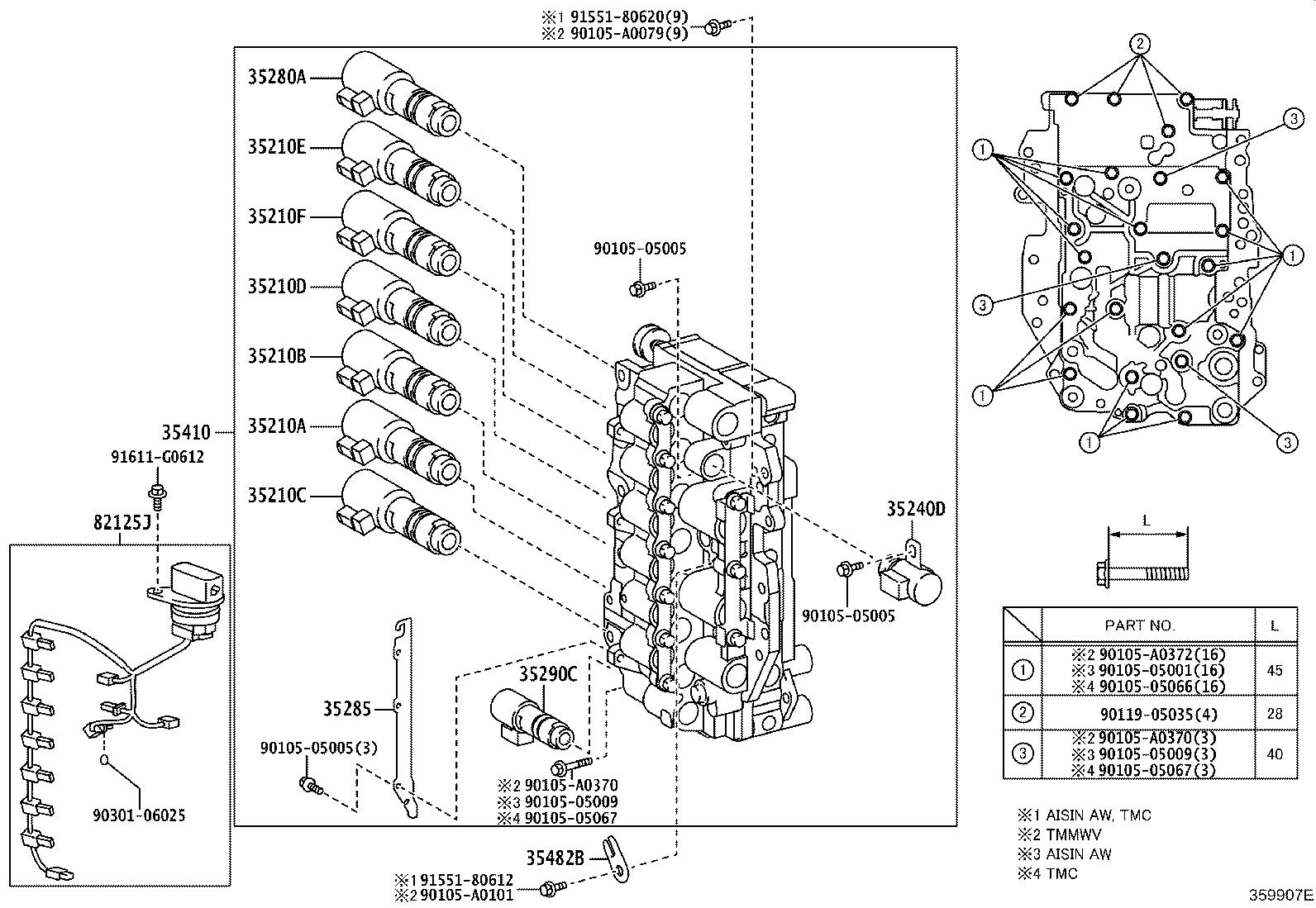 Toyota Camry Automatic Transmission Control Solenoid