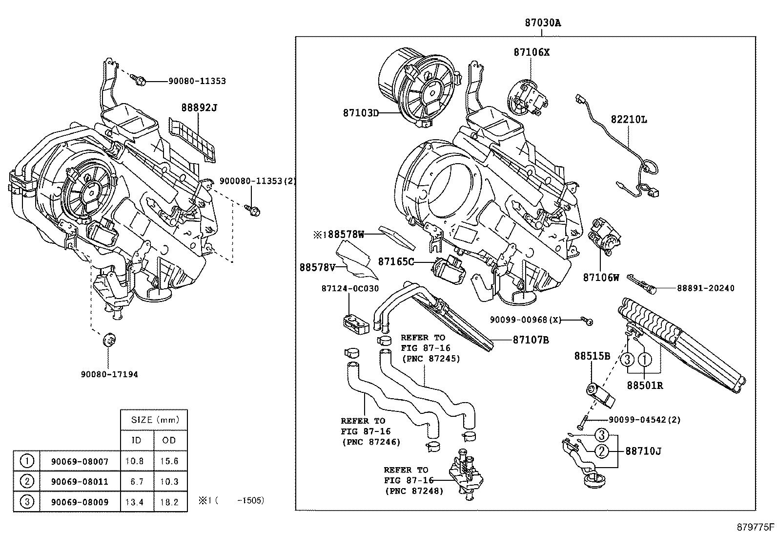 Toyota Sequoia Servo Sub Assembly Damper For Cooling